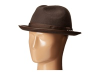 Carlos By Carlos Santana Wool Fedora With Pinch Front Hat Chocolate Fedora Hats Brown