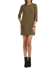 Trina Turk Versed Solid Sheath Dress Green