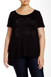 Vanilla Sugar Be Mine Short Sleeve Tee Plus Size Black