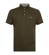 Ted Baker Clay Knitted Trim Polo Shirt Male Green
