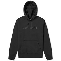 Carhartt Hooded Logo Sweat Black