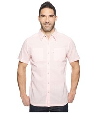 Columbia Harborside Slim Fit Linen Camp Shirt Cupid Yacht Men's Short Sleeve Button Up Pink