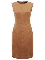 Marc Cain Sleeveless Suedette Dress Brown