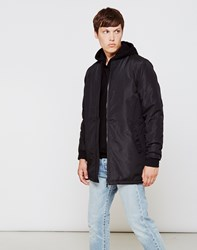 The Idle Man Long Line Bomber Jacket Black
