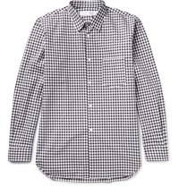 Comme Des Garcons Shirt Gingham Cotton Poplin Shirt Black