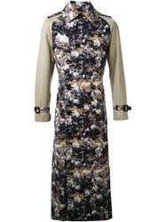 Dresscamp Rose Print Trench Coat Green