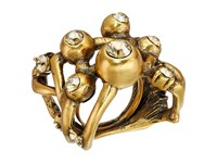 Oscar De La Renta Ball And Crystal Ring Cry Gold Shadow Ring