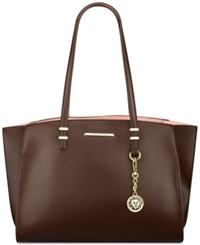 Anne Klein Head To Toe Large Tote Chocolate