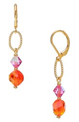 Women's Dabby Reid 'Lyla' Swarovski Crystal Mix Earrings Orange Pink