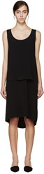 Maiyet Black Double Layer Dress