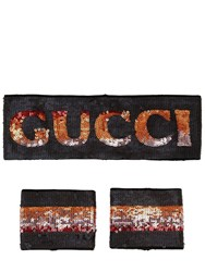 Gucci Logo Sequins Headband And Cuffs Array 0X58e5bf0