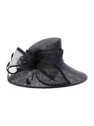 Suzanne Bettley Large Adjustable Brim Bow Hat Navy