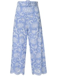 Alice Mccall Cloud Obscurity Broderie Anglaise Trousers 60