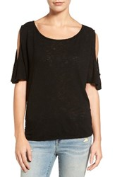 Velvet By Graham And Spencer Women's Cold Shoulder Tee