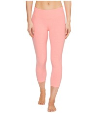Beyond Yoga Capri Legging Coral Reef White Spacedye Women's Capri Pink