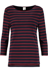 Iris And Ink Madeleine Breton Striped Stretch Cotton Top
