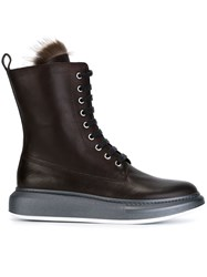 Brunello Cucinelli Chunky Sole Boots Brown