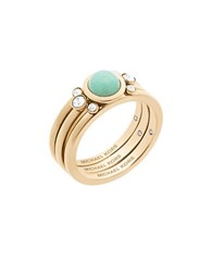Michael Kors Easy Opulence Mountain Jade And Crystal Ring