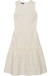 Mother Of Pearl Ellie Faux Embellished Devore Cotton Blend Dress White