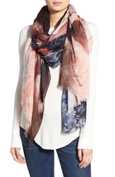 Lily And Lionel Women's Lily And Lionel 'Sylvia' Flamingo Print Modal And Silk Scarf