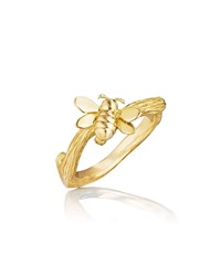 Mimi So Wonderland 18K Gold Small Stackable Bee Ring