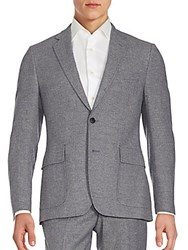 Billy Reid Herringbone Sport Coat Blue Grey