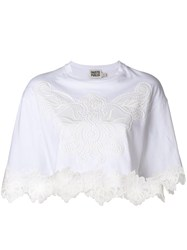 Fausto Puglisi Floral Lace T Shirt White