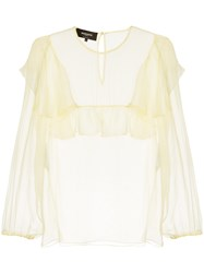 Rochas Ruffled Blouse White