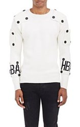 Hood By Air Button Patch Sweater White