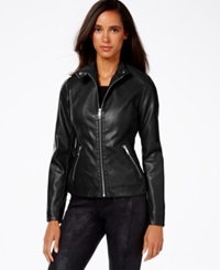 Inc International Concepts Faux Leather Jacket Only At Macy's Black