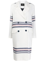 Steffen Schraut Striped Double Breasted Coat 60
