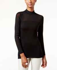 Inc International Concepts Mock Turtleneck Illusion Top Only At Macy's Deep Black