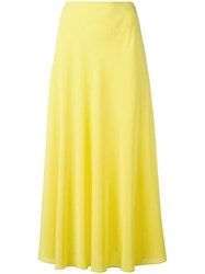 Cedric Charlier A Line Midi Skirt Yellow Orange