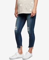 Articles Of Society Maternity Distressed Skinny Jeans Medium Wash