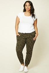 Forever 21 Plus Size Camo Print Sweatpants Charcoal Grey