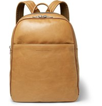 Brunello Cucinelli Suede Panelled Leather Backpack Camel