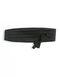 Black Brown Silk Tie And Cummerbund Set Black