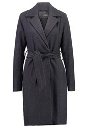 Mbym Ziv Classic Coat Medium Grey Dark Grey