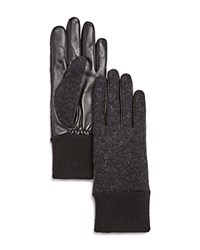 Ugg Wool And Leather Tech Gloves Black Heather