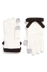 Kate Spade Women's New York Contrast Bow Tech Friendly Gloves