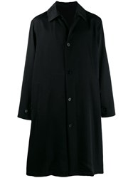Jil Sander Logo Trench Coat Black
