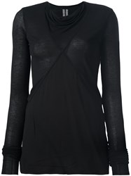 Rick Owens Cowl Neck Top Black