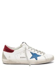 Golden Goose Superstar Leather Trainers Blue White
