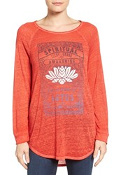 Lucky Brand Women's Lotus Matchbox Tee