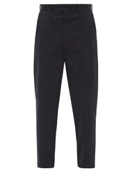 Raey Tapered Cotton Chino Trousers Navy