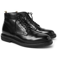 Officine Creative Stanford Burnished Leather Boots Black