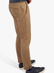 Joules Laundered Slim Fit Chinos Brown