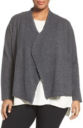 Eileen Fisher Plus Size Women's Felted Merino Sweater Jacket