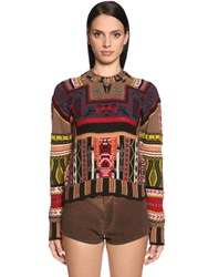 Etro Intarsia Wool And Cashmere Blend Sweater