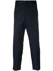 Jil Sander Cropped Tailored Trousers Blue
